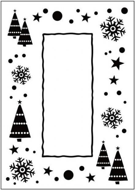 CTFD 3036 ~ LET IT SNOW ~ embossing folder Crafts Too